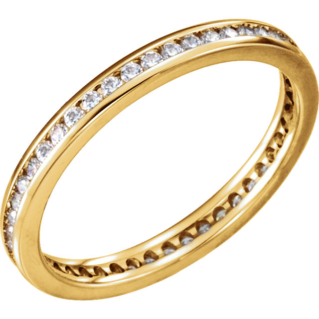 14K Yellow Gold Channel Set Eternity Band